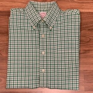 Brooks Brothers Green Casual L/S Dress Shirt Sz L